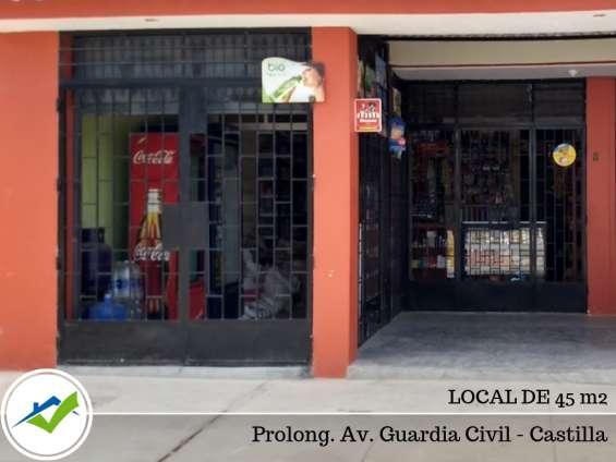 Alquiler de local 45 m2 - prolong. guardia civil, castilla, piura