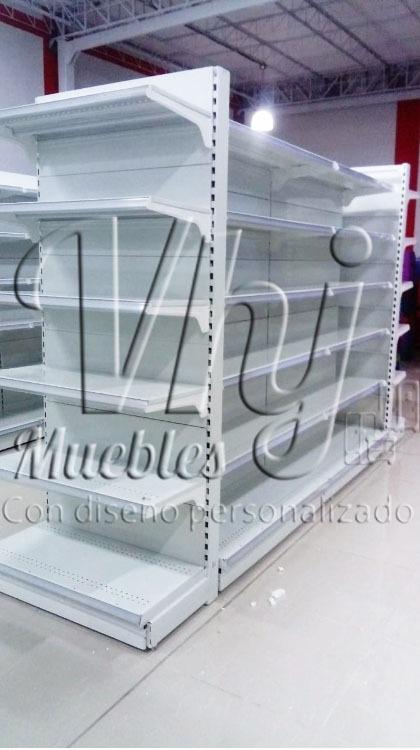 Fotos de Góndola central  exhibidora con cabecera