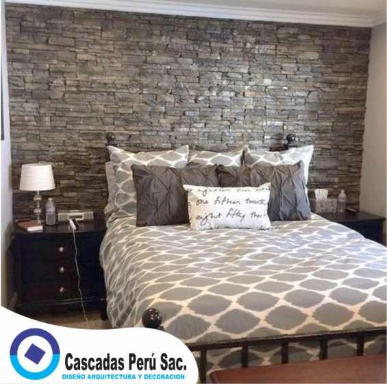 Laja. piedra de pared, fachaleta interior y exterior