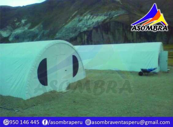 Campamentos y carpas igluu mineros asombra perú