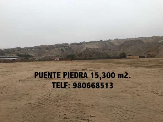 Se vende terreno industrial 15,300 m2 - puente piedra km 33.5