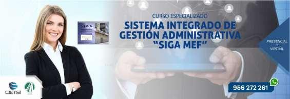 Curso especializado sistema integrado de gestión administrativa siga mef 2019 (nuevo)