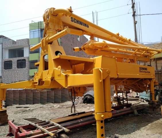 Bomba hormigonera de concreto schwing recién importado