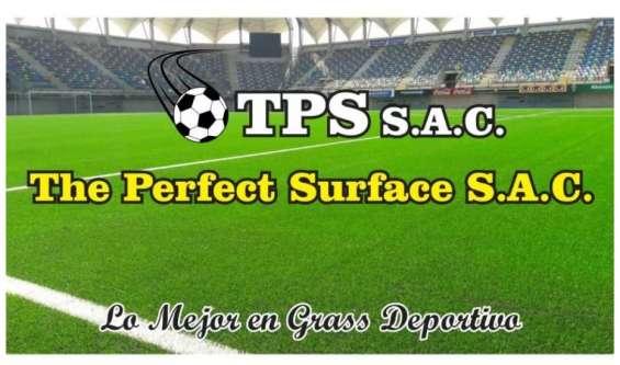 Instalación de grass sintético deportivo