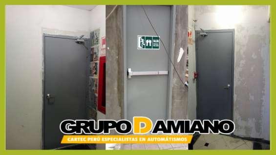 Puertas y accesorios cortafuegos grupo damiano perú e.i.r.l