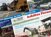 Fresado de Asfalto costo x m2 Pavimentos y Obras Viales Perú 2020