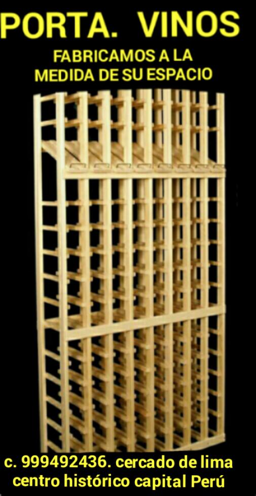 Mueble porta botellas de vinos fabricación a la medida de su espacio