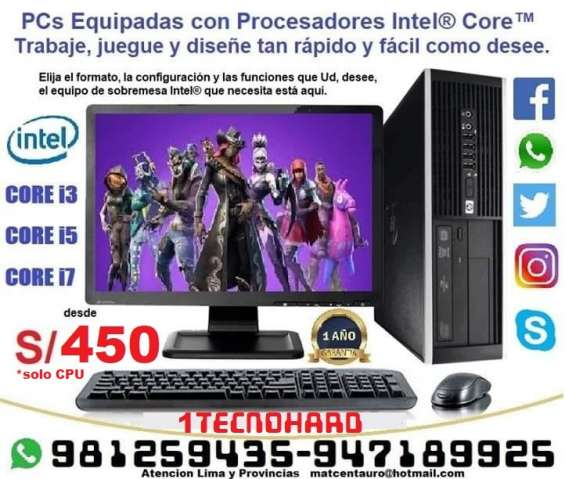 Computadoras core i3, core i5, core i7