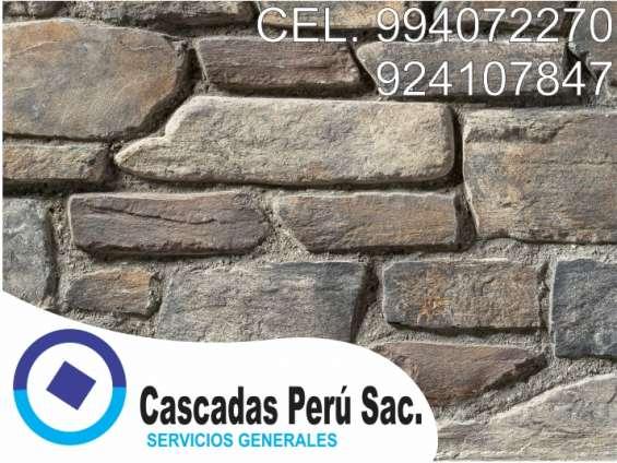 Fotos de Fachaletas peru, piedra laja, pared decorativo de fibra de vidrio 3