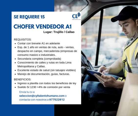 Urgente chofer vendedor a1
