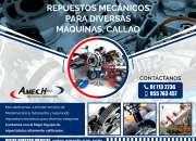 Repuestos mecánicos para diversas maquinas, callao. amech-sac