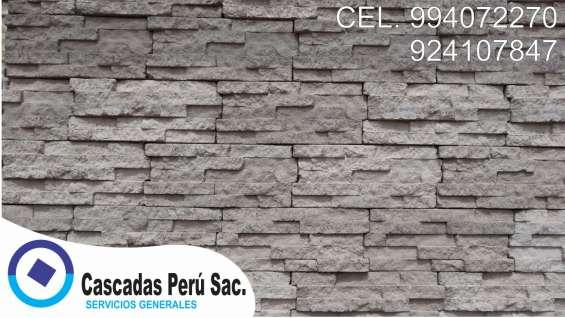 Fotos de Piedra laja, panel de fachaletas, fachaletas 3