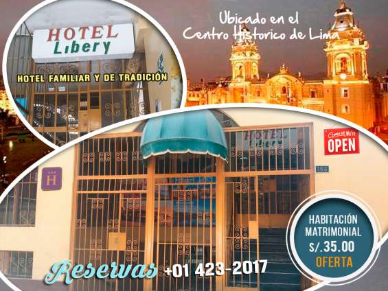 Hotel libery- hotel familiar en cercado de lima