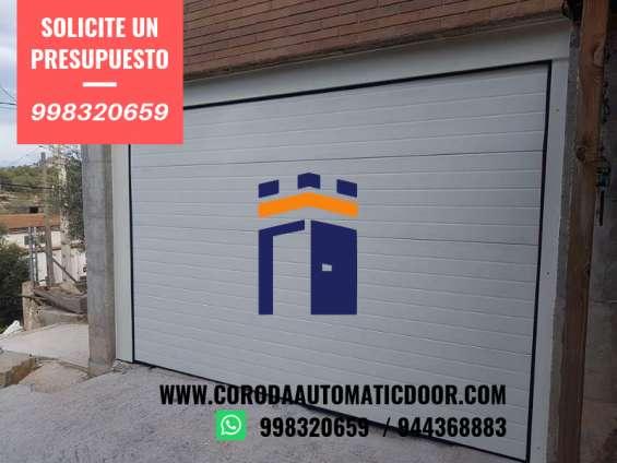 Puertas , puertas levadizas , puertas corredizas , puertas  seccionales coroda automatic door