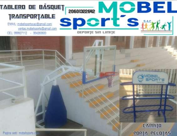 Castillo de basquet transportable