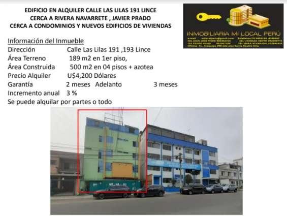 Edificio en alquiler en calle las lilas 191 lince