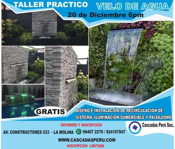 Taller practico de instalación de velo de agua