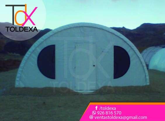 Campamentos tipo igluu toldexa