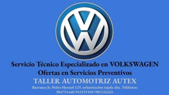 Autex taller mecánico reparación de vehículos de marca vw