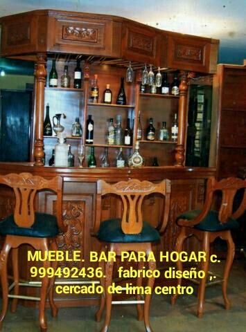 Bares de madera fabricacion y diseño exclusivos lima perú sudamerica