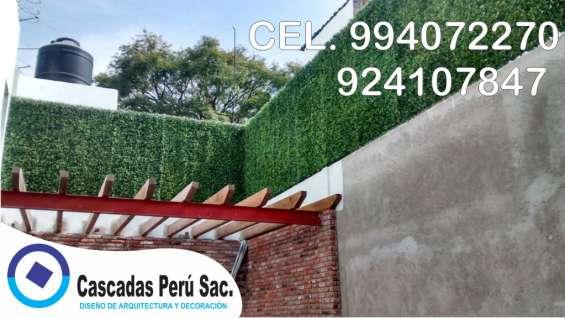Fotos de Jardin sintetico decorativo, jardin vertical moderno 5