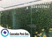 Jardin sintetico decorativo, jardin vertical moderno