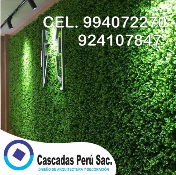 Fotos de Jardin sintetico decorativo, jardin vertical moderno 4