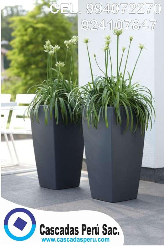 Fotos de Macetas cuadradas negras, macetas cuadradas con plantas, macetas, 6