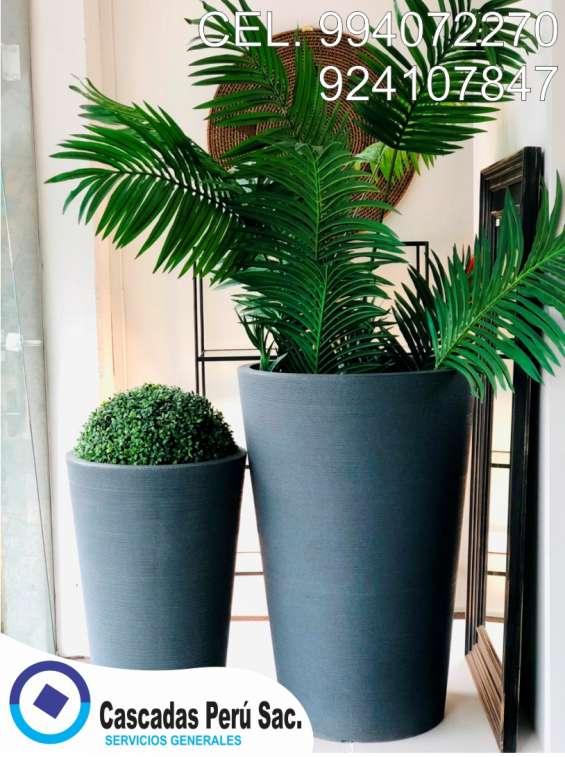 Fotos de Macetas cuadradas negras, macetas cuadradas con plantas, macetas, 1