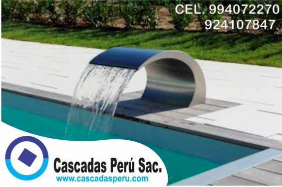 Fotos de Rebose de acero, rebose de agua, caida de agua para piscina, rebose, 3