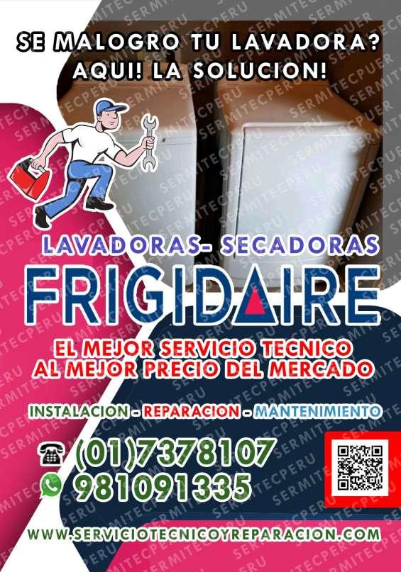 Frigidaire-981091335 reparación de centros de lavado-la molina