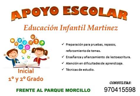 Reforzamiento escolar, inicial, 1ro y 2do grado de primaria, total garantía.