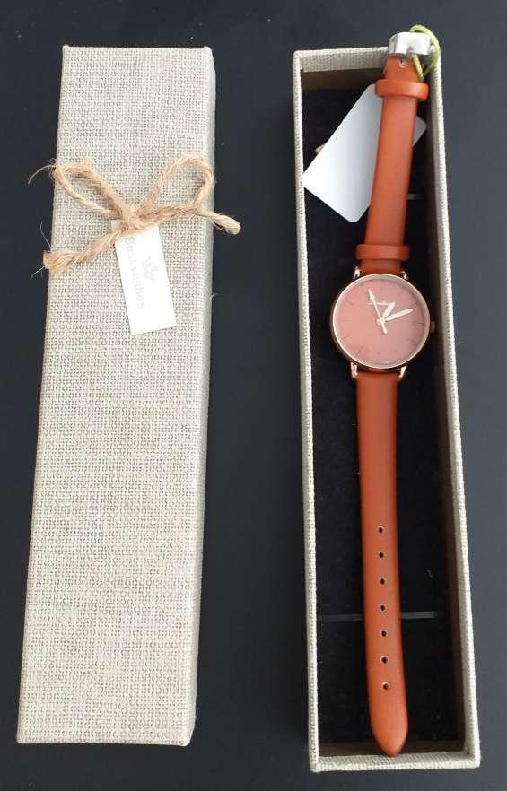Reloj dicaihong mujer/dama - color marrón/toffee (nuevo)