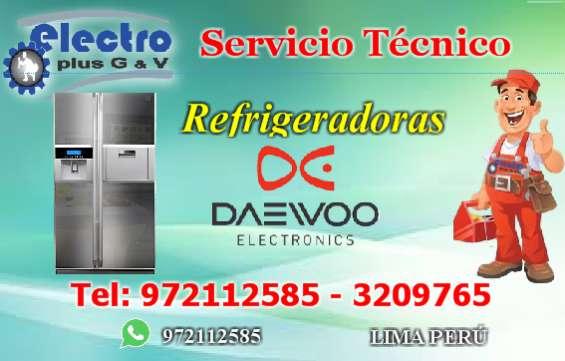 Servicio puntual, servicio tecnico de refrigeradoras daewoo, 9721125875.