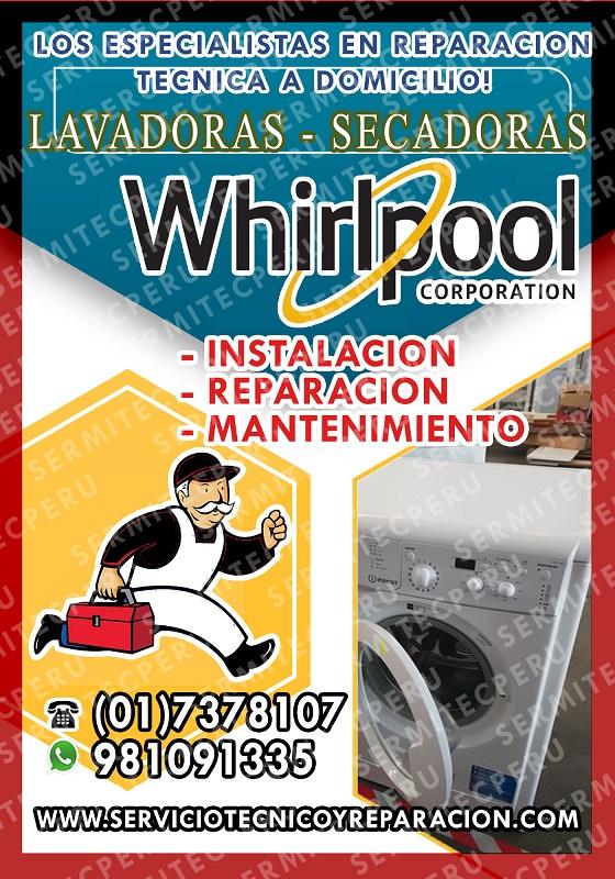 Soluciones whirlpool>>lavadoras*secadoras 7378107 en callao