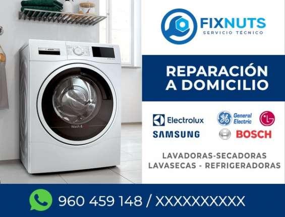 Reparación de de lavadoras electrolux todos los distritos