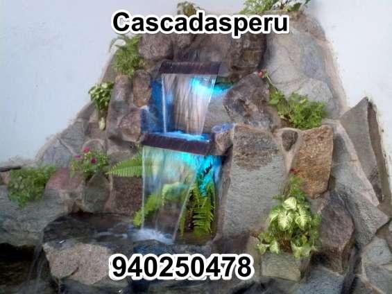 Cascadas, cataratas artificiales en piedra natural en lima