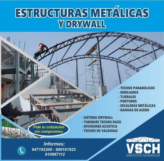 Drywal y estructuras metalicas