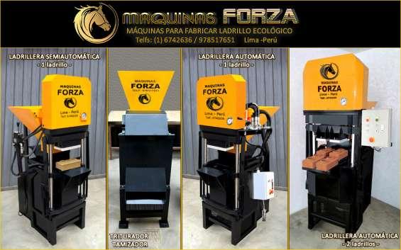 Máquinas manuales y automáticas para hacer ladrillo ecológico