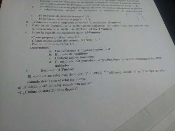 Clases de estadistica, fisica, qumica, matematica financiera, calculo 1-2-3