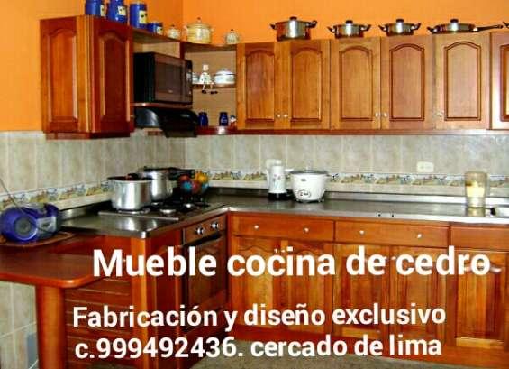 Muebles de cocina en cedro fabricacion diseño cercado de lima centro histórico capital per