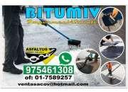 Venta de bitumev a tdo el peru informe a 975461308