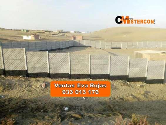 Cercos de concreto prefabricado en cañete