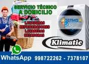 Profesionales klimatic servicio tecnico 998722262 en miraflores