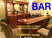 Bares muebles tallados fabricación y diseño exclusivo lima centro histórico capital Perú