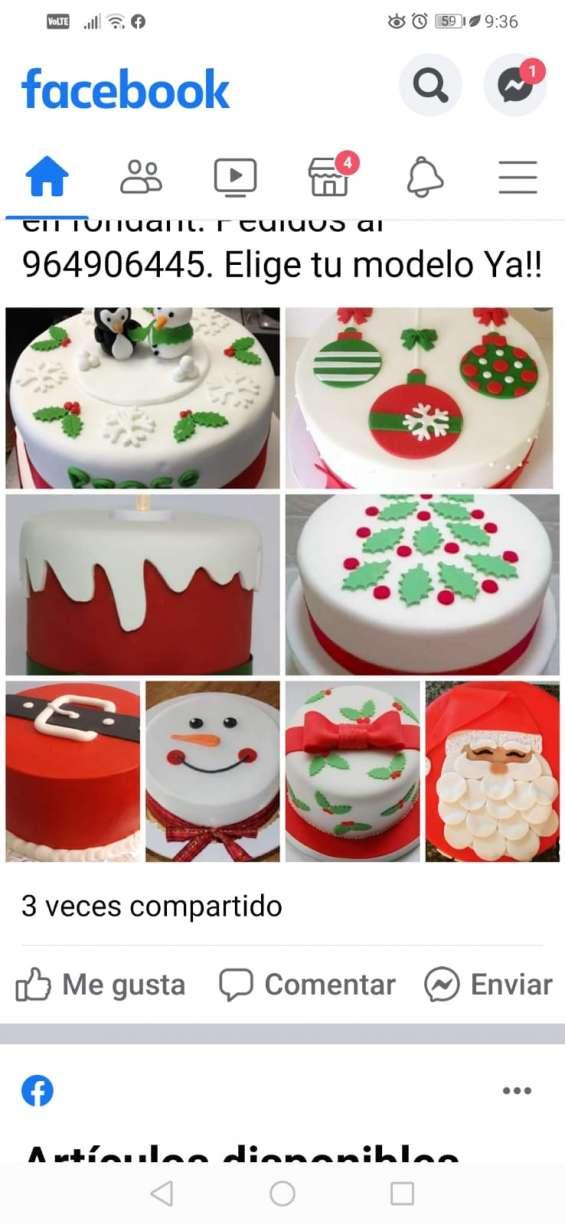 Linda mini tortas navideñas