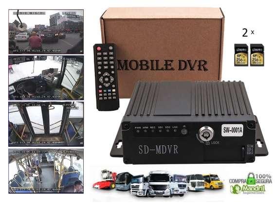 Mdvr grabador dvr auto camión ómnibus bus ahd 4 canales sd 256gb