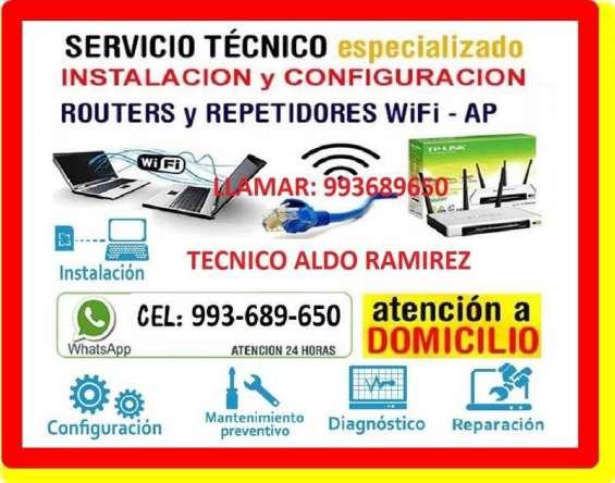 Tecnico en reparacion de internet pc laptops cableados de red a domicilio