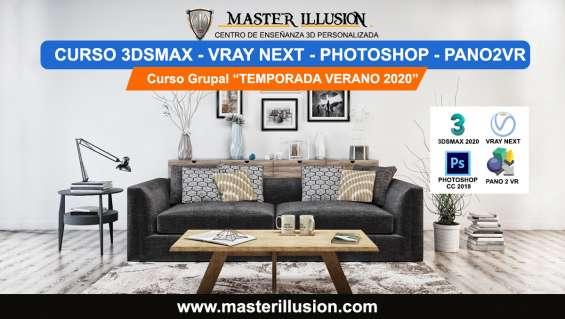Curso 3dsmax 2020 y vray next para arquitectura de interiores / master illusion