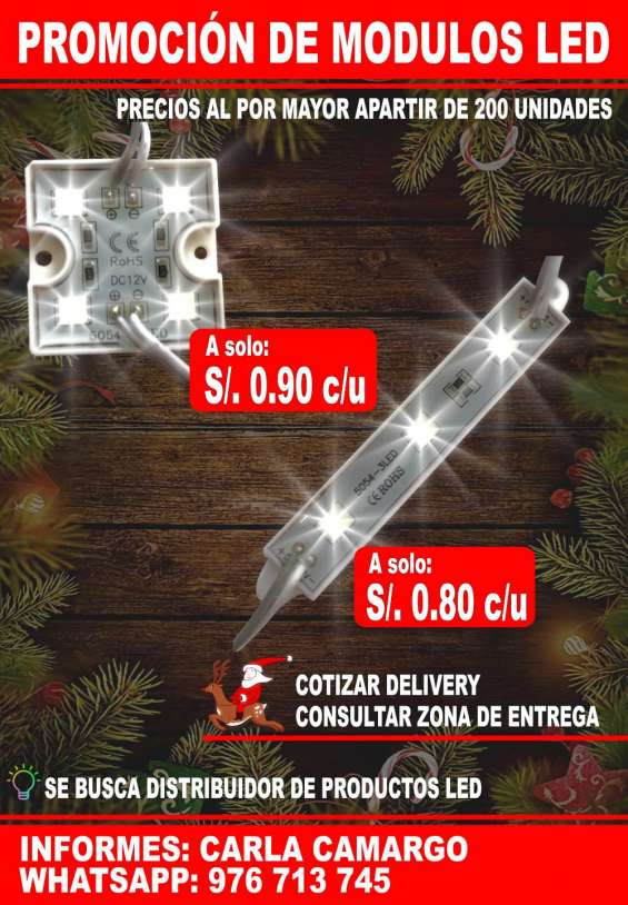 Módulo led ultrabrillante stock de 3 y 4 led super ofertas!